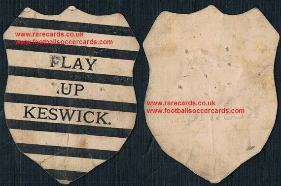 1890 Play Up Keswick FC a Baines-like card